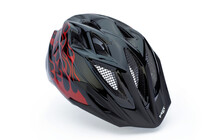 Met MTB Helm Crackerjack zwart vlammen